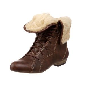 Steve Madden Brown Lace Up Blizzard Boots